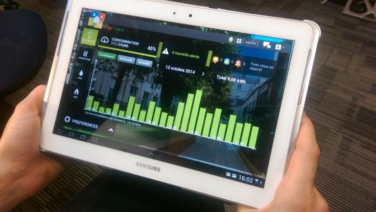 tablette économie énergie bâtiment connecté