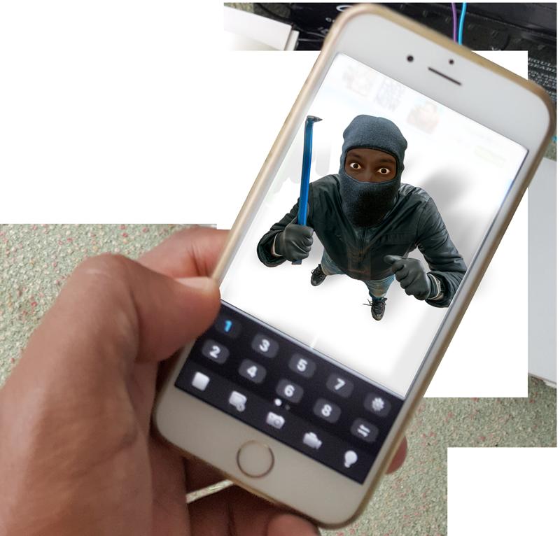 voleur téléphone connecté sécurité intrusion